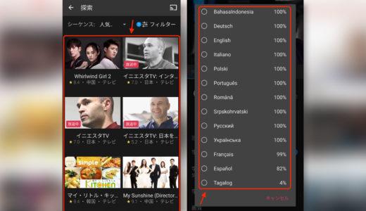 Vikiで日本語字幕を出すには「設定」